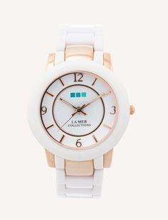 La Mer Indo Lucite Watch - white