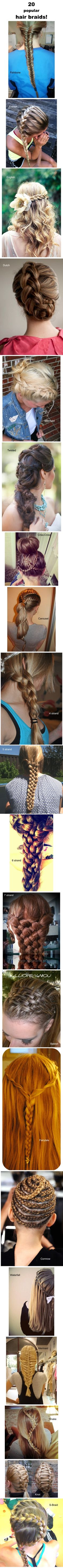 20 hair braids! Ill never b able to do any of these but...soooooooo cool!!!!