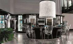 custom made modern kitchen design in art deco style