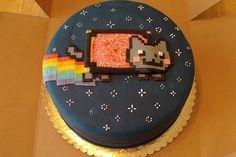 Nyan cat cake...