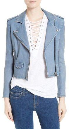 IRO Women's 'Ashville' Lambskin Leather Moto Jacket