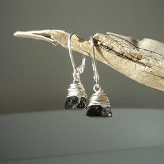 Boucles d'oreilles en argent massif 925 et pendentif en cristal swarovski