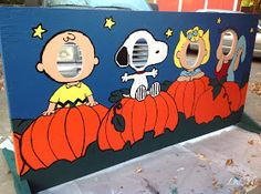 LydMc: Painting for Peanuts: A Harvest Festival Cut-Out Board