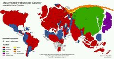 Most visited #websites #internetmap