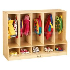 Your source offering the widest selection of lockers and locker related products to North America and beyond, including our toddler wooden coat locker with cubbies and steps. Cubby Storage, Kids Storage, Locker Storage, Storage Ideas, Storage Organization, Toddler Closet Organization, Hallway Storage, Wood Storage, Storage Solutions