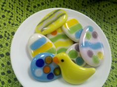 easter fun! in fused glass by Janice Arcaro