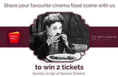 """Thanks to the partnership with CinemaItaliaUK we are happy to offer 2 tickets for the screening """"The Great European Disaster Movie"""" on Sunday 12th April at 6.30pm at Genesis Cinema  Share with us your favourite CINEMA FOOD SCENE and we will pick the best one. After the Q&A you will also have the opportunity to taste for free our amazing food again! Enjoy the show."""