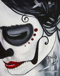 Day Of The Dead Close Up Painting More