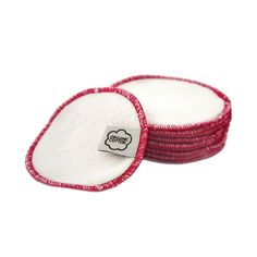Facial Rounds with pink trim (10 pack)