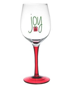 Take a look at this 'Joy' Wineglass by Formation on #zulily today! $10 !!