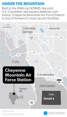 NORAD's Hidden Bunker *keeps the [data] snoops out* . | . The caves a mile inside Cheyenne Mountain are home to some of the world's most sophisticated satellite and other tracking systems. Reporter Trevor Hughes got a look inside, to understand the bunker's past and its future .. [.READ MORE /  WATCH.]