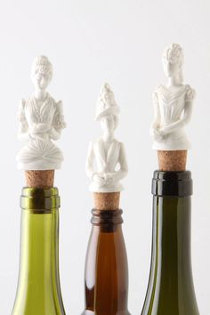 i love these! i'd put them into plain, empty glass bottles for a tabletop vignette.