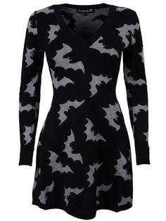 Sourpuss Batty Long Women's Black Sweater