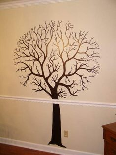 Metal wall art 6.5 foot tall Family Tree - made to have magnetic photos attached to complete family tree... etsy First Light