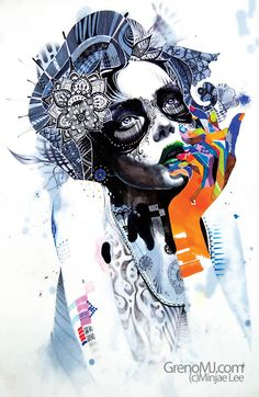 Emotion by Minjae Lee, via Behance // <3 Anything Sugar Skull style is alright by me!