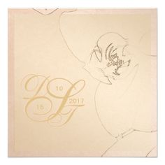 #monogrammed - #Orchid Blush Gold Invitations