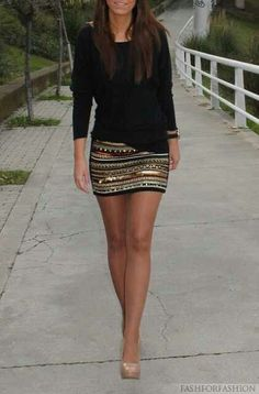 Sequince Skirt. Teen Fashion. By-Lily Renee♥ follow (Iheartfashion14).