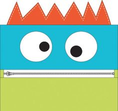 Download Lil' Monster Pencil Case free pattern from Moda