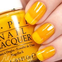 OPI Color Paints Swatches, Review and Nail Art [shade: primarily yellow]