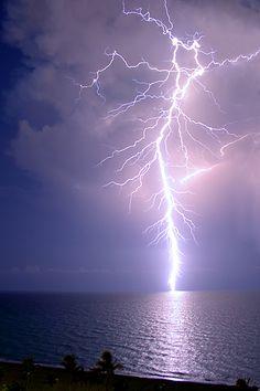 Lightning Strike over Atlantic
