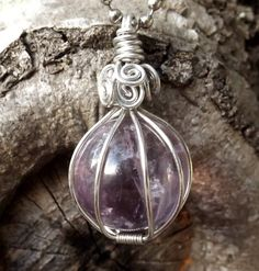 Large Magical Amethyst Sphere Pendant by TheSleepyFirefly on Etsy