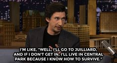 Adam Driver on The Tonight Show with Jimmy Fallon