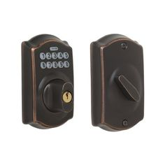 Schlage Camelot Single-Cylinder Electronic Entry Door Deadbolt with Keypad