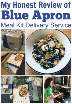My Honest Review of Blue Apron Meal Kit Delivery Service - Family Balance Sheet Balance Sheet, Inexpensive Meals, Blue Apron, Delivery, Tasty, Kit, Cooking, Recipes, Food