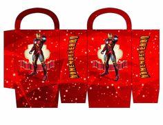 Iron Man: Free Printable Candy Paper Bag.