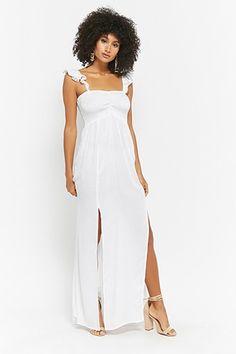 362df207e7ca5 Forever 21 Boho Me Smocked Maxi Dress A woven maxi dress by Boho MeTM  featuring a smocked bodice