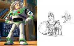 Original artwork for Buzz Lightyear from Toy Story