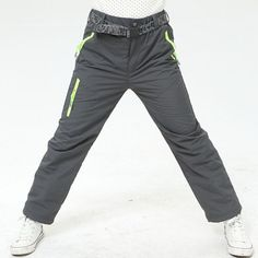 9ddc524c09 Winter Outdoor Pants Fleece Trousers Boys Windproof Waterproof