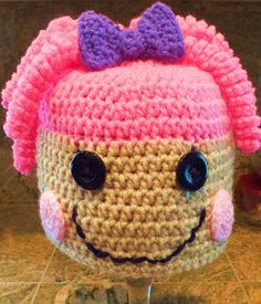 Free Lalaloopsy Hat Pattern  Pattern Level Easy and Fun  This hat fits a child to adult Read more at http://spotconnie.blogspot.com/2013/12/free-lalaloopsy-hat-pattern.html#iJ7wlUa1Ghk1Vbko.99