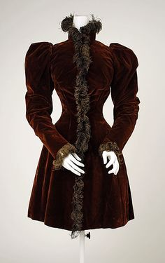 Jacket Date: ca. 1894 Culture: American Medium: silk Accession Number: C.I.62.15.2 Metropolitan Museum of Art