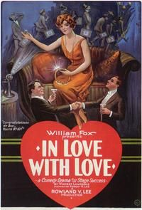 Theatrical poster for the 1924 silent film In Love with Love.