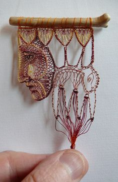 Lace & Wood - Ágnes Herczeg.  I think there is some metal wire too.
