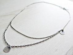 KSZU- Double Silver Chain Necklace [pr925] Silver Chain Necklace, Bracelets, Jewelry, Jewlery, Jewerly, Schmuck, Jewels, Jewelery, Bracelet