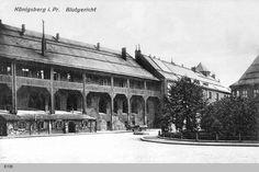 Königsberg, Schloßhof am Blutgericht Tytuł (polski) Królewiec, dziedziniec zamkowy - restauracja Blutgericht (historyczny oraz legendarny lokal w piwnicach zamku) Data zrobienia zdjęcia 1889 - 1914