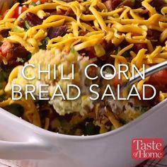 Chili Cornbread Salad Recipe