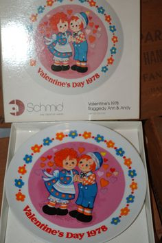 Raggedy Ann and Andy Vintage Valentine's Day by PatchHappyPauper, $8.00