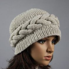 Hand knitted warm hat for women. Soft and comfortable ladies beanie, available in many colours.