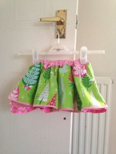 Candy castle patterns lollipop pi skirt in age 12-18 months with tulle underskirt.