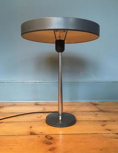 Vintage Brussels Marked Retro Table Lamp Genuine Leather Bordeaux Red Shade Antiques