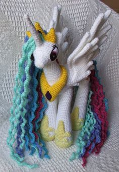 Crochet pattern for Princess Celestia: