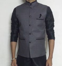 Men s Designer Waist Coat Nehru Jacket Modi Jacket
