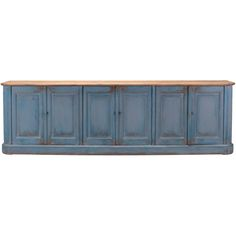 Furniture�::�Buffets & Sideboards�::�Extra Long Sky Blue Sideboard