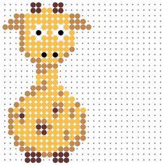 Cute Giraffe Perler Bead Pattern
