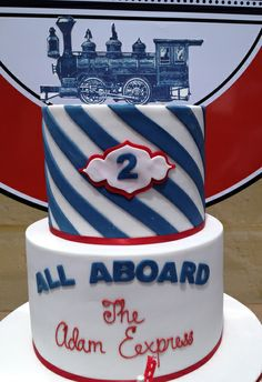 Cake at a Vintage Train Party #vintagetrain #partycake