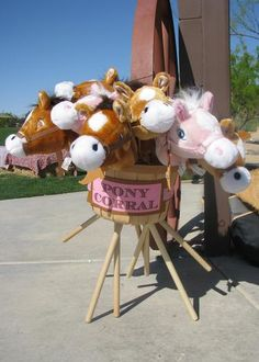 "Stick pony ""corral"" at cowgirl party Cowgirl Party, Horse Party, Cowgirl Birthday, Rodeo Cowgirl, Vintage Cowgirl, Horse Birthday Parties, 3rd Birthday, Birthday Party Themes, Birthday Ideas"