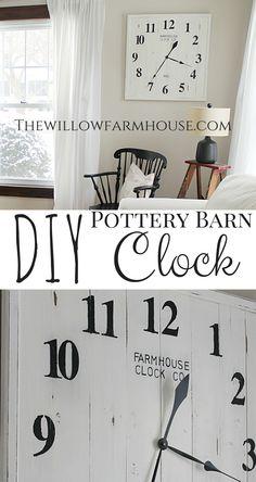 DIY Pottery Barn Clock!!